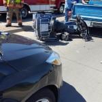 UPDATE: 3 Hospitalized After 3-Vehicle Crash Involving Motorcycle