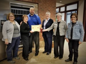 SHICK volunteers receive the BANK VI Hero Award