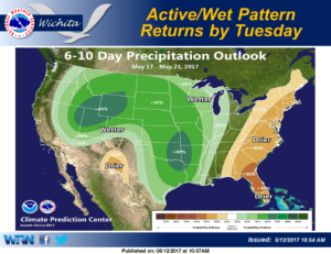 More active weather pattern expected early next week