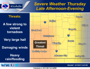 Severe weather possible Thursday afternoon and evening