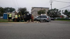 UPDATE: Two Hospitalized in Two Vehicle Rollover Accident