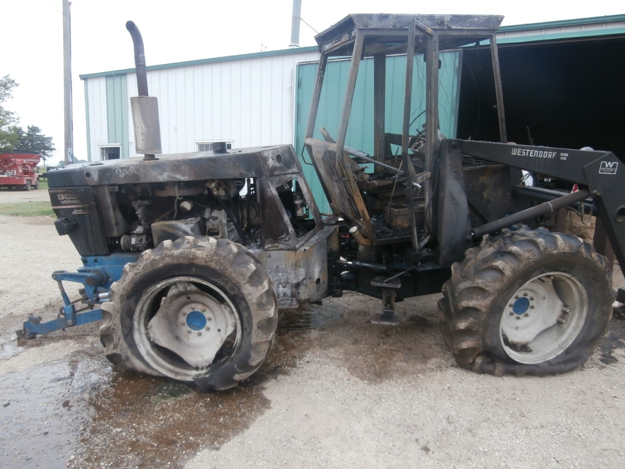 Ford Bi Directional Tractor : Fire destroys bi directional tractor and shed the salina