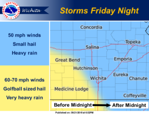 Storms possible Friday night