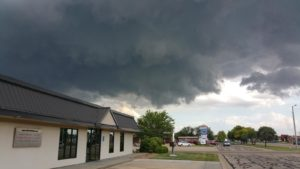 Storm brings damage early Monday evening