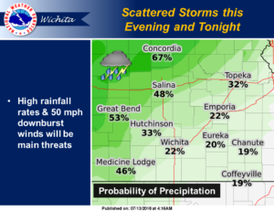 Rain possible beginning Friday evening