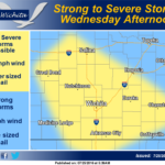 Stormy Wednesday Afternoon Possible