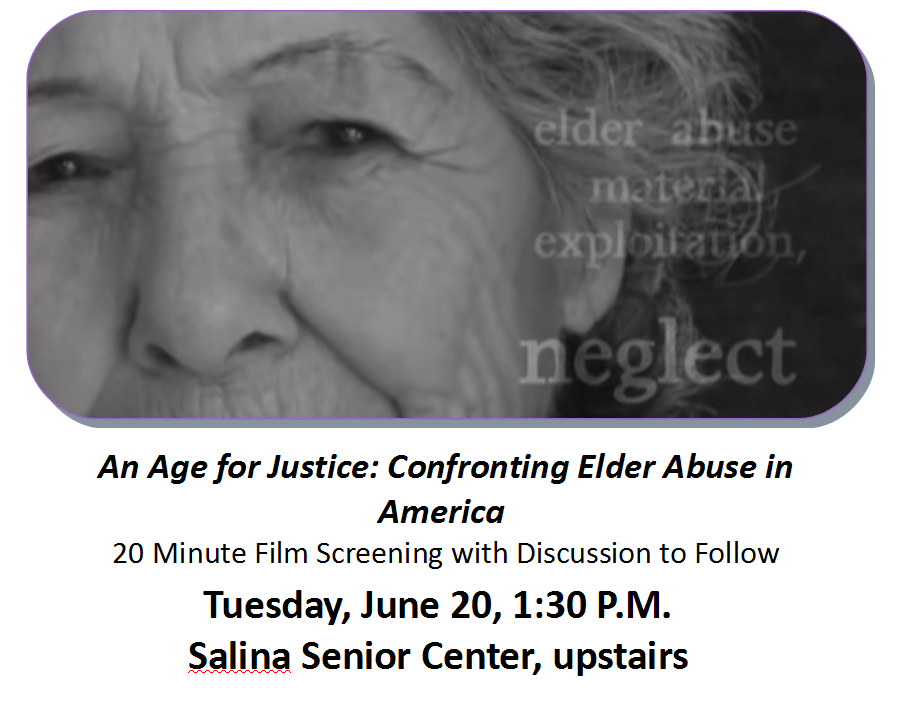 DVACK to hold screening for Elder Abuse Awareness Month