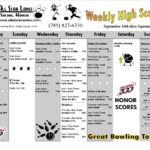 Weekly high scores from All Star Lanes