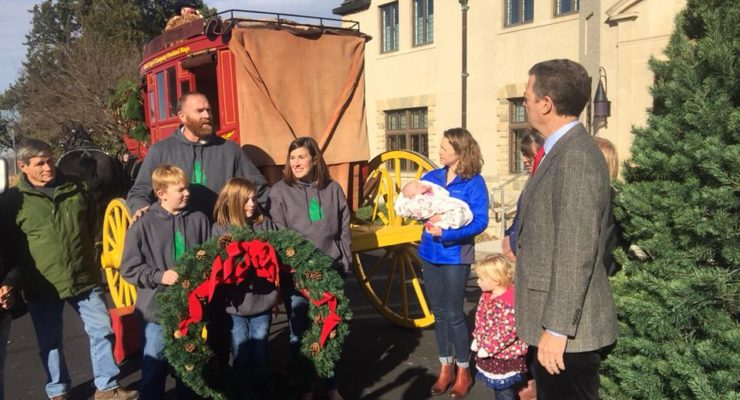 Bel Tree Farm  of Salina delivers Christmas Tree to Governors Mansion Tuesday