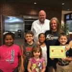 Bianna Kaumans is presented with the BANK VI Hero of the Week Award