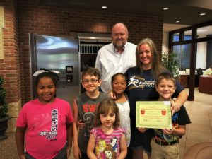 Brianna Kaumans is presented with the BANK VI Hero of the Week Award