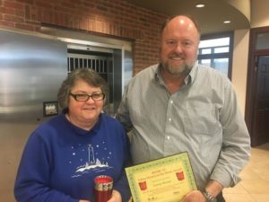 Connie Bowman receives her BANK VI Hero of the Week Award