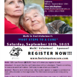 """Foot Steps To A Cure"" September 10th in Abilene"