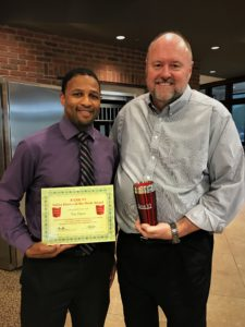 Eric Davis receives his BANK VI Hero of the Week Award