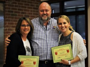 Christine and Megan Robl receive the BANK VI Hero of the Week awards