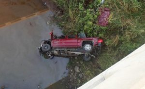 Colby woman drives off Saline Co. bridge