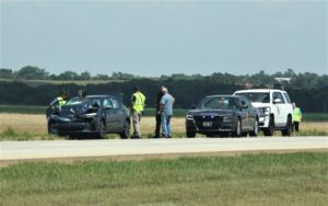 Accident west of Salina sends four to hospital