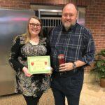 Halie Graybeal receives her BANK VI Hero of the Week Award