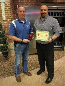 Jamie Bradley receives his BANK VI Hero of the Week Award