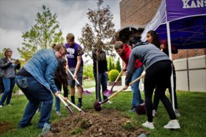 Arbor Day tree planted by KWU students and City Forester