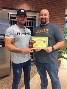 Brad Godfrey receives the BANK VI Hero Award