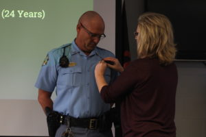 Saline County Sheriff's Office holds pinning ceremony