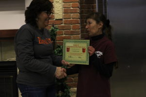 Donella receives her BANK VI Hero of the Week Award