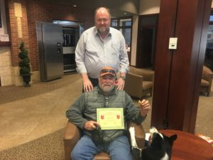 Mike Fuller receives his BANK VI Hero of the Week Award