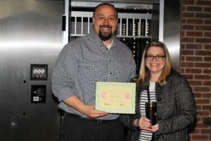 Alisha Jester receives her BANK VI Hero of the Week Award