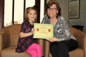 Callie Leiker receives her BANK VI Hero of the Week Award