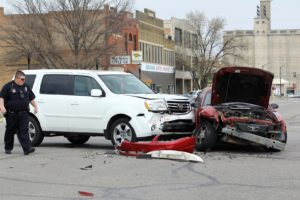 Man driving to hospital blamed for accident at Santa Fe and Ash