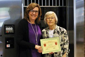 Beth Miller receives the BANK VI Hero of the Week Award