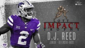 K-State's Reed Named to Lott IMPACT Trophy Watch List