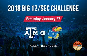 KU to host former conference foe Texas A&M in Big 12/SEC Challenge