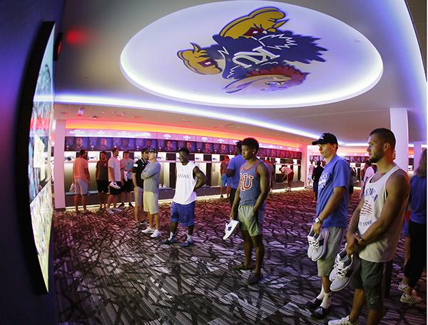 Jayhawks Unveil New Football Locker Room The Salina Post