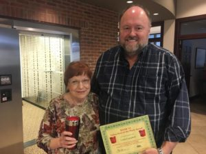 Linda Campbell is Presented With Her Bank VI Hero of the Week Award