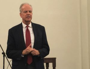 Moran visits with local constituents