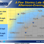 Storms possible late afternoon and evening
