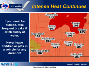 Intense heat expected to continue