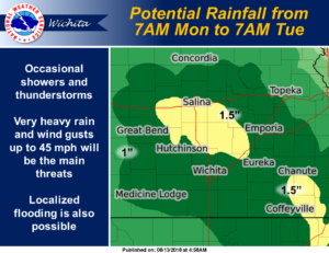 Rain chances increase for Monday, Tuesday