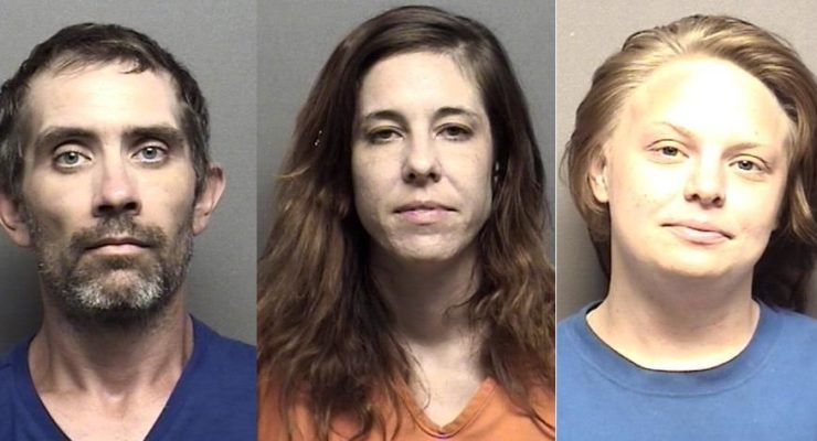 Three charged with stealing checks from mailboxes