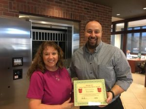 Nona Miller is Presented With Her Bank VI Hero of the Week Award