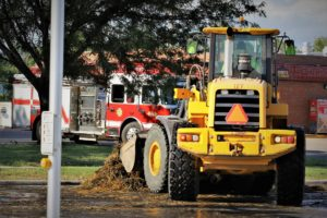 Crews extinguish hay fire at intersection in North Salina