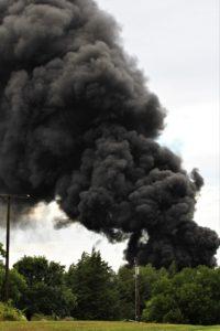 Oil storage tank ignites northeast of Salina