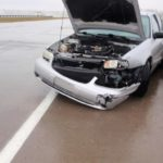Wet conditions blamed for single vehicle accident on I-135