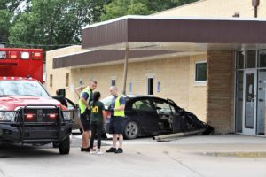 Awning damaged in single vehicle accident
