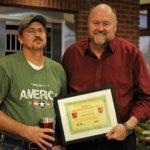 Robert Eaton is presented with the BANK VI Hero of the Week Award