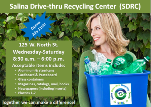 Public Invited to Salina Drive-thru recycling center's ribbon cutting ceremony & grand opening