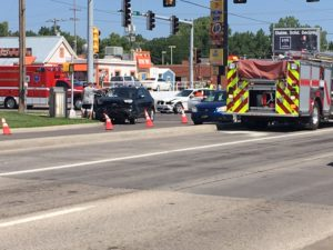 UPDATED Vehicles collide at Ohio and Crawford