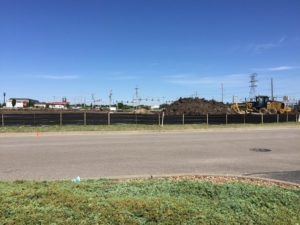 Construction has begun of a new strip plaza called Salina Square that will include a Five Guys restaurant (Photo by Terry Tebrugge/Salina Post)